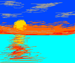 sunset in an ocean
