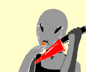 an angsty alien getting revenge, eating a chip