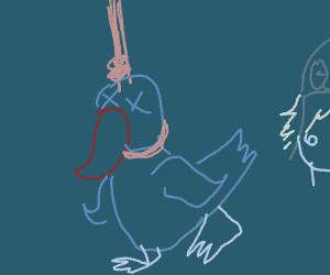 Suicidal Duck (hanged itself)