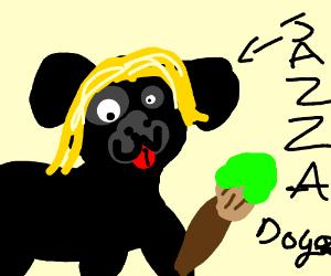 english black dog