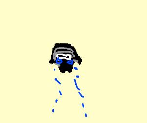 kylo Ren's helmet is crying