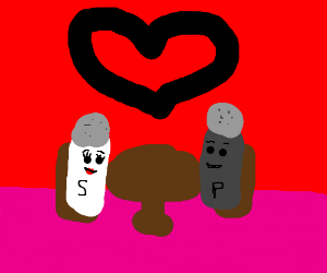 salt and pepper on a date