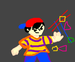 Ness showing off his skills - Drawception