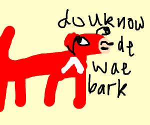 Ugandan knuckles turns into a dog