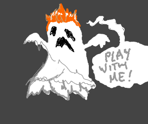 Spoooooky ginger wants to play