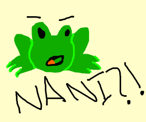 Surprised frog. (Maybe Pepe?)
