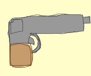 Poorly drawn gun