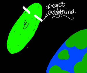a pickle in space regretting it all