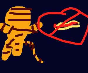 Tigger leaves after lasagna ban