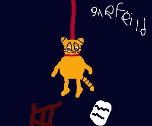 Garfield kills himself by hanging
