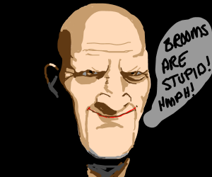 Bald guy complains about brooms
