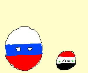 polandball russia and syria(?)