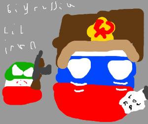 big russia and lil Iran