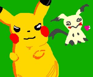 Pikachu doesn't like Mimikyu