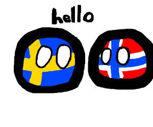 Sweden saying hi to Norway