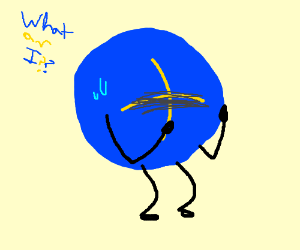 blue circle with yellow + on it