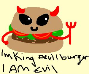 king devil burger is EBIL