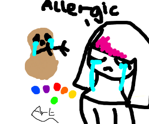 the artistic value of peanut allergy