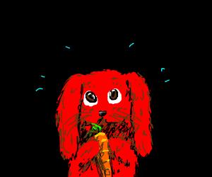 red rabit is kinda worried
