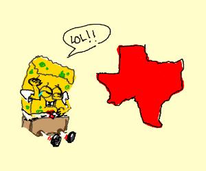 SpongeBob making fun of texas