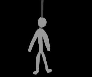 "a ""ded""man hung himself"