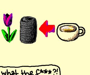 tulips can bee left arrow cup of tea
