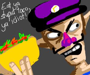 Waluigi gets a job at taco bell