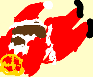 Santa Claus stole pizza!