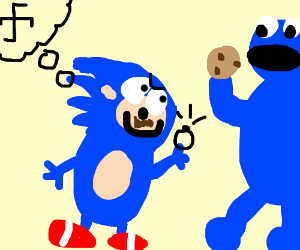 Nazi Sonic asks Cookie Monster to marry him