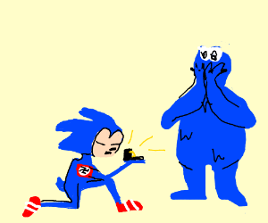 Hitler sonic racist proposes to Cookie monster