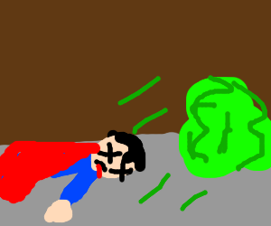 Superman is dead in front of kryptonite