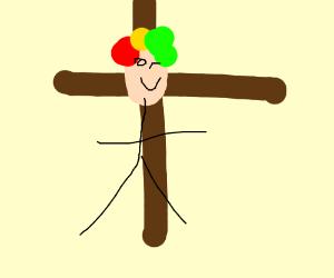 Jesus as a killer clown