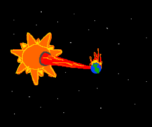 The sun is a deadly laser