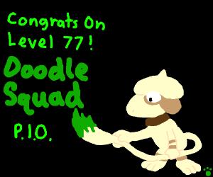 Congrats On Level 77, Doodle Squad! PIO