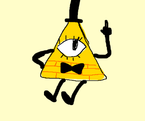 """Bill cipher: """"Fvck you"""""""