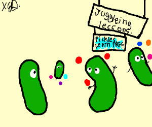Dill Pickles Learns To Juggle