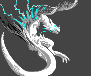 Angry Lightning Dragon - Drawception