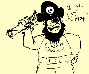 Pirate has the map