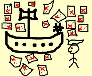 a pirat has 22 tresure maps