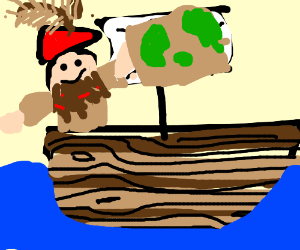 Pirates of the Caribbean(?) Boat,stickman,maps