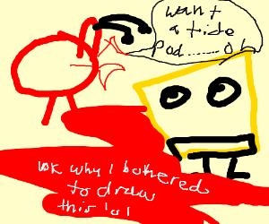 Crab looked into sponge eyes as sponge bleed