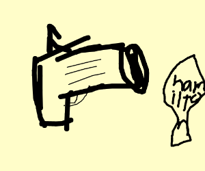The gun that shot Hamilton