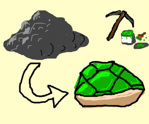 Turtle shell made out of a rock