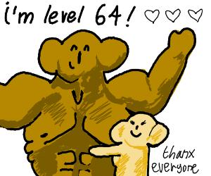 Steroid using koala is level 64.