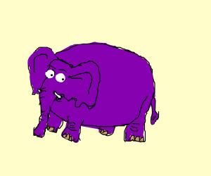 A purple elephant