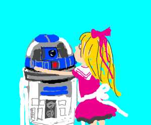 R2 D2 And His Anime Girlfriend.