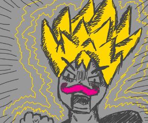 Super Saiyan with pink mustache