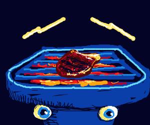 Blue grill has superior lightning eyebrows.