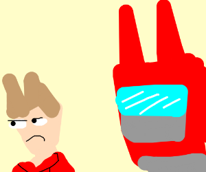 Tord is disappointed in his giant robot.