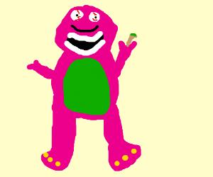 Barney rhe dinosaur smoking weeeeed